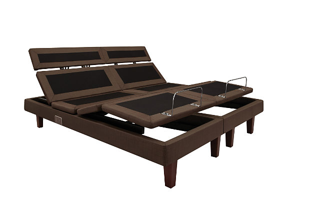 Sealy Reflexion 7 Adjustable Twin XL Power Base, Brown/Black, large