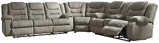 McCade 3-Piece Reclining Sectional, , large