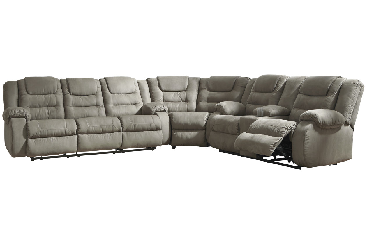 Miraculous Mccade 3 Piece Reclining Sectional Ashley Furniture Homestore Gamerscity Chair Design For Home Gamerscityorg