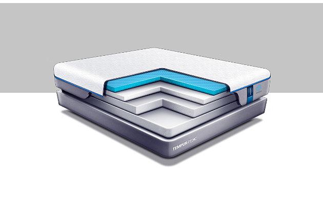 Tempur Cloud Luxe Breeze 2.0 King Mattress, White/Gray, large