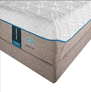 Tempur Cloud Luxe Breeze 2.0 Queen Mattress, White/Gray, rollover