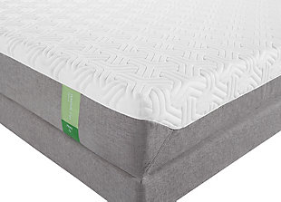 Tempur Flex Prima Queen Mattress, White/Gray, rollover