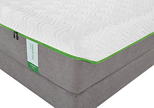 Tempur Flex Supreme Queen Mattress, White/Gray, rollover