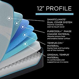 TEMPUR-PRObreeze™ Medium Twin XL Mattress, White, large