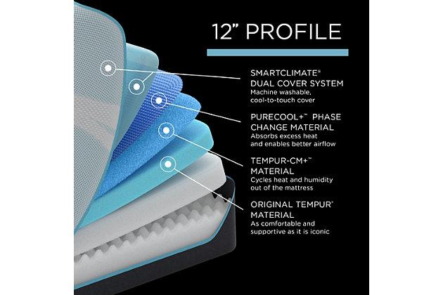 TEMPUR-PRObreeze™ Medium Queen Mattress, White, large