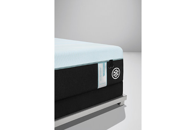 TEMPUR-PRObreeze Medium Hybrid Full Mattress, Charcoal/White, large