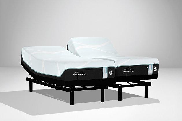 TEMPUR-PRObreeze Medium Hybrid California King Mattress, Charcoal/White, large