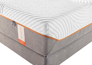 Tempur Contour Supreme Queen Mattress, White/Gray, rollover