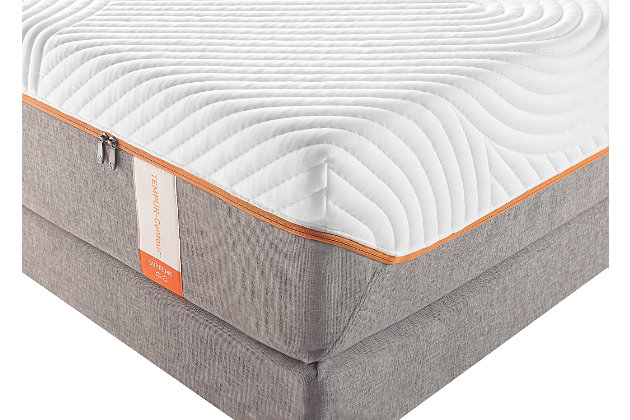 Tempur Contour Supreme Queen Mattress, White/Gray, large