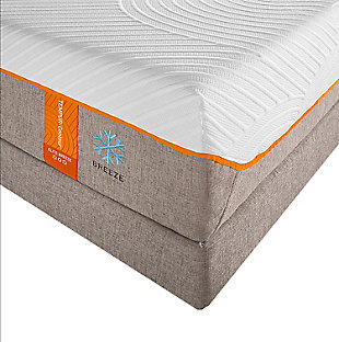 Tempur Contour Elite Breeze Queen Mattress, White/Gray, rollover