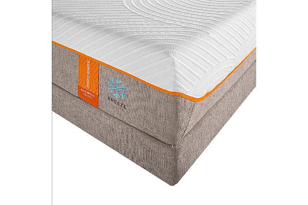 Tempur Contour Elite Breeze Queen Mattress, White/Gray, large