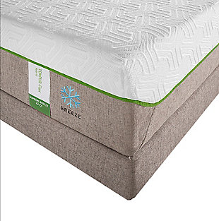 Tempur Flex Supreme Breeze Queen Mattress, White/Gray, rollover