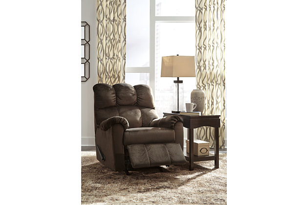 Foxfield Recliner, Chocolate, large