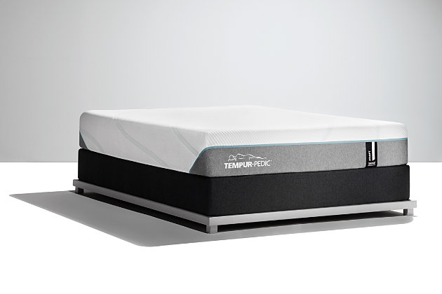 Tempur Medium Twin Mattress, White/Gray, large