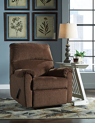 Nerviano Recliner, Chocolate, large
