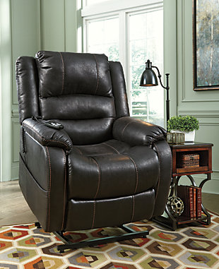 Yandel Power Lift Recliner, Black, large