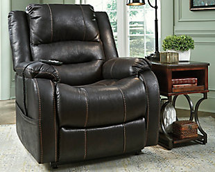 Yandel Power Lift Recliner, Black, rollover