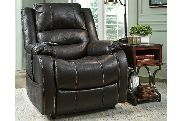 Yandel Power Lift Recliner by Ashley HomeStore, Black, Po...