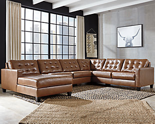 Baskove 4-Piece Sectional with Chaise, , rollover