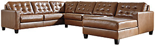 Baskove 4-Piece Sectional with Chaise, Auburn, large