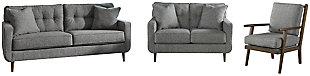 Zardoni Sofa, Loveseat and Chair, , large