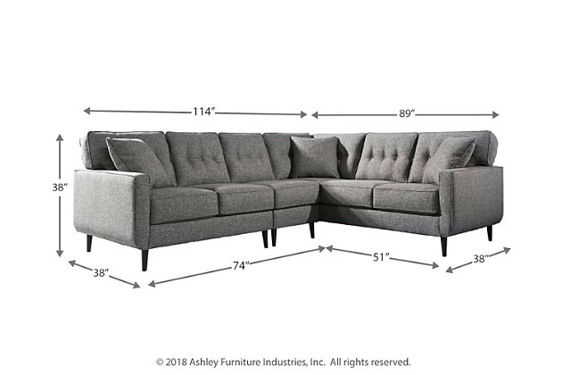 Swell Zardoni 3 Piece Sectional Ashley Furniture Homestore Cjindustries Chair Design For Home Cjindustriesco