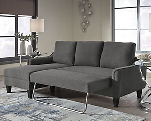 Large Jarreau Sofa Chaise Sleeper Gray Rollover