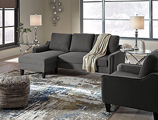 Jarreau Sofa Chaise and Chair, Gray, large