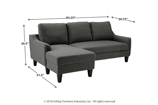 Jarreau Sofa Chaise Sleeper, Gray, large