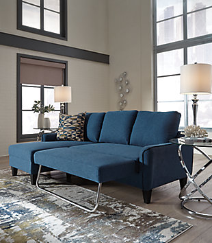 Jarreau Sofa Chaise Sleeper, Blue, large