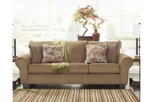 Galand Sofa by Ashley HomeStore, Brown, Polyester (100 %)