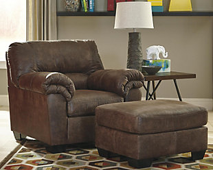 Bladen Oversized Ottoman, Coffee, large