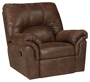 Merveilleux Bladen Recliner, Coffee, Large ...