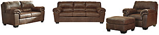 Bladen Sofa, Loveseat, Chair and Ottoman, Coffee, large