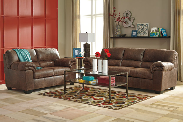 Our Living Room Features Our Fine Luxuriant Brown Couch And Loveseat