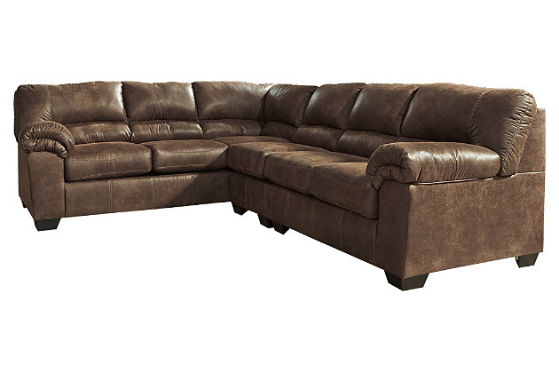 Bladen 3-Piece Sectional with Ottoman, Coffee, large