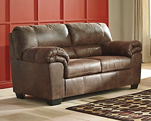 Bladen Loveseat, Coffee, rollover