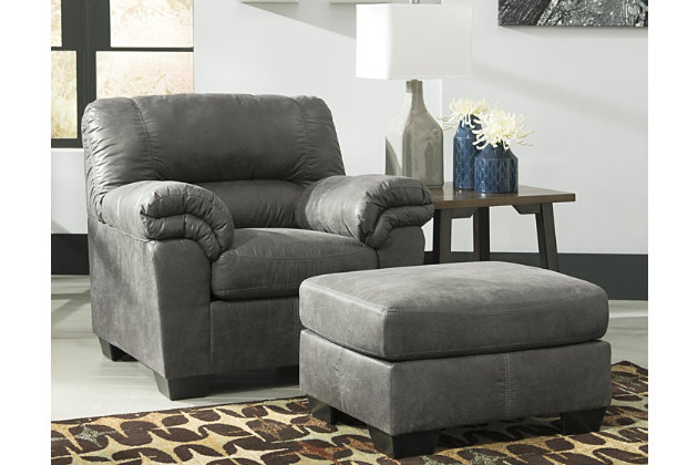 Bladen Chair Ottoman, Slate, large