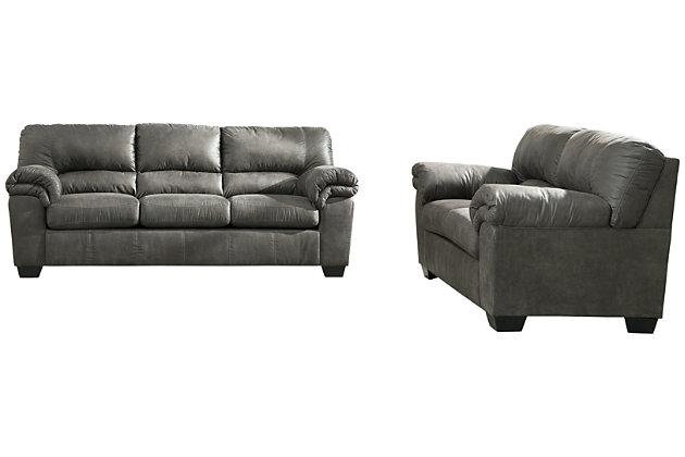 Bladen Sofa and Loveseat, Slate, large