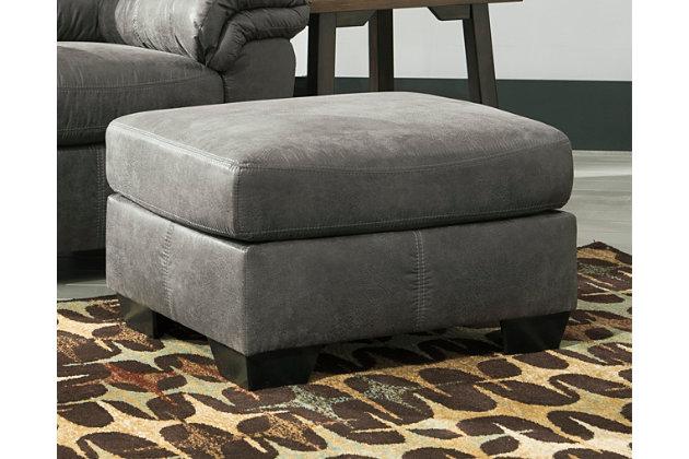 Bladen Chair Ottoman, Slate, large