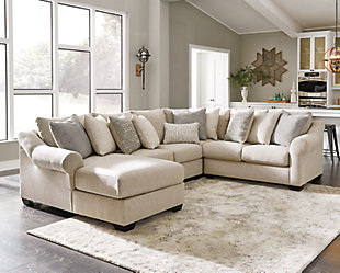 Carnaby 4-Piece Sectional with Chaise, , rollover