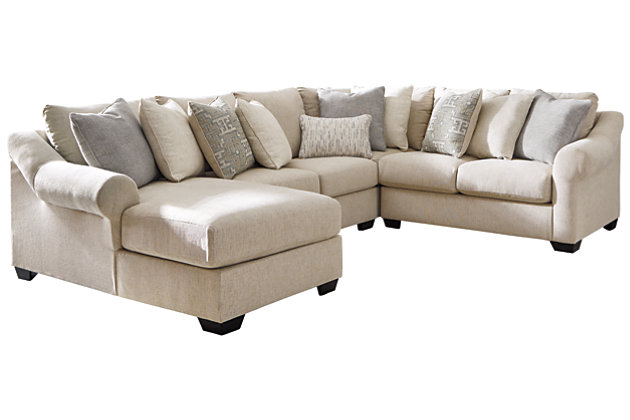 Carnaby 4-Piece Sectional with Chaise, , large