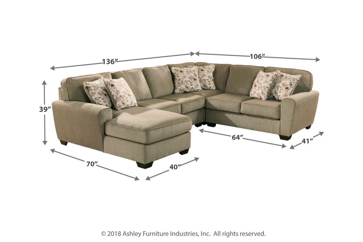 Outstanding Patola Park 4 Piece Sectional With Chaise Ashley Furniture Forskolin Free Trial Chair Design Images Forskolin Free Trialorg