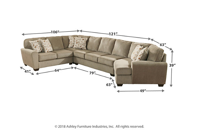 Patola Park 4 Piece Sectional With Cuddler Ashley Furniture Homestore