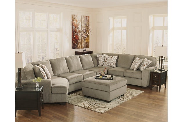 patola park living room set featuring cuddler wedge armless sofa loveseats and ottoman