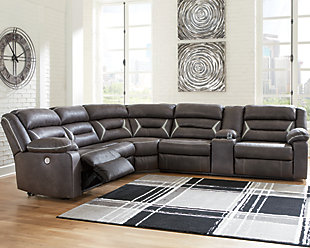 Kincord 4-Piece Power Reclining Sectional, , rollover
