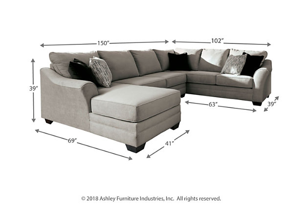 Palempor 3-Piece Sectional with Chaise, , large