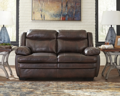 Cafe Leather Loveseat Product Photo 508