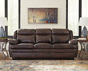 ashley furniture leather sofa set front room hannalore sofa large rollover sofas couches ashley furniture homestore