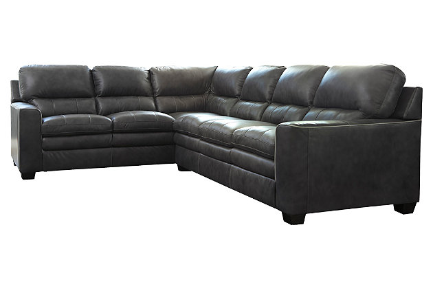 Gleason 2-Piece Sectional, Charcoal, large